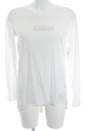 Bogner Longshirt weiß-goldfarben Casual-Look