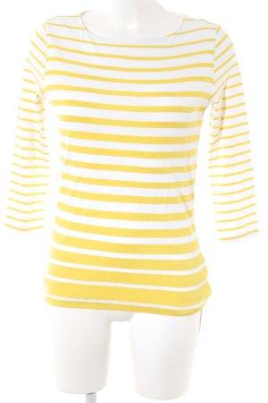 Bogner Longsleeve weiß-gelb Streifenmuster Casual-Look