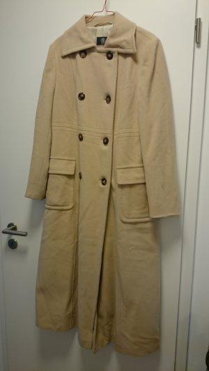 Bogner Mantel lang beige Creme Angora Schurwolle Gr. 42
