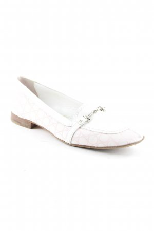 Bogner Mocasines blanco-rosa claro estampado a lunares look vintage