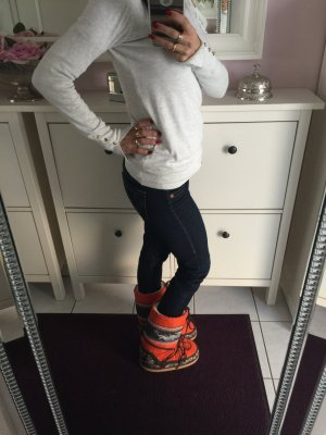 Bogner Moonboots orange bunt wie neu 37 Winterstiefel Schneestiefel Skischuhe