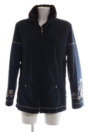 Bogner Outdoor Jacket blue-white flower pattern casual look