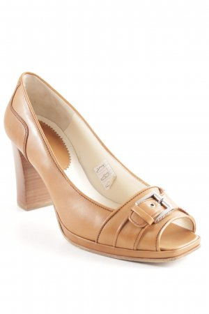 Bogner Peep Toe Pumps brown classic style