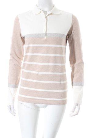 Bogner Polo-Shirt beige-creme Streifenmuster sportlicher Stil