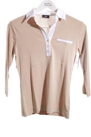Bogner Polo-Shirt beige-weiß sportlicher Stil