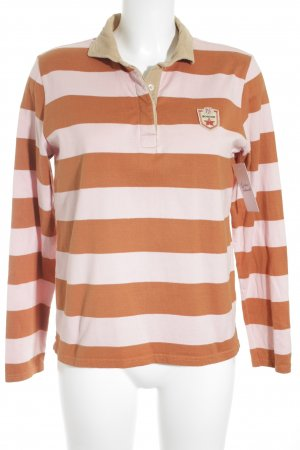 Bogner Polo-Shirt dunkelorange-rosé Streifenmuster Casual-Look