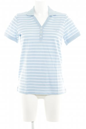 Bogner Polo-Shirt himmelblau-weiß Streifenmuster Casual-Look