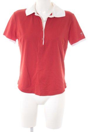 Bogner Polo-Shirt rot-weiß sportlicher Stil