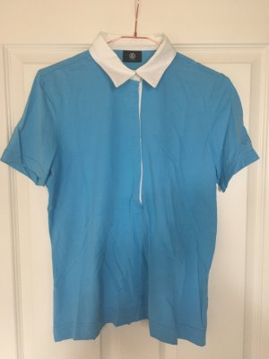Bogner Polo Shirt baby blue-white cotton