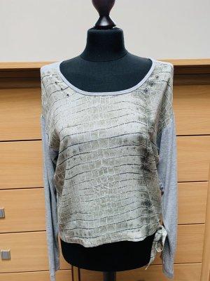 Bogner Shirt met print grijs-groen-lichtgrijs
