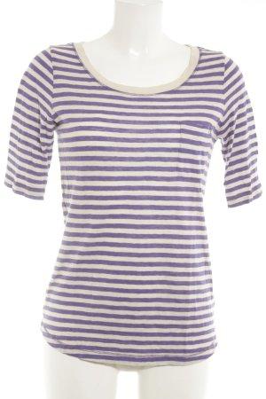 Bogner Stripe Shirt cream-lilac horizontal stripes simple style