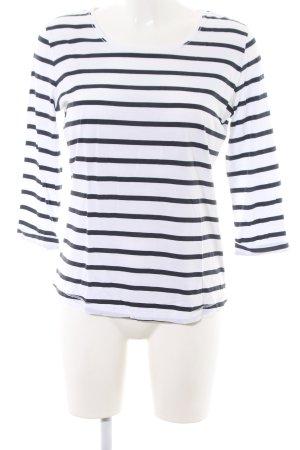 Bogner Gestreept shirt wit-zwart gestreept patroon casual uitstraling