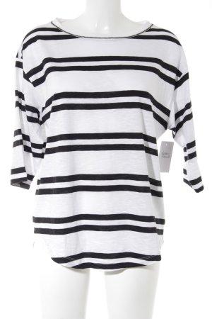 Bogner Gestreept shirt wit-zwart horizontale strepen casual uitstraling