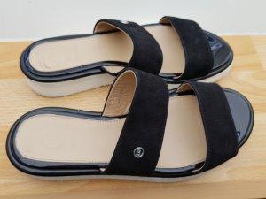 Bogner Sandalias cómodas negro-blanco Cuero