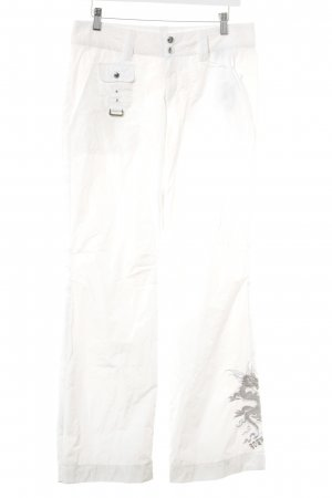 Bogner Pantalón de campana blanco puro look casual