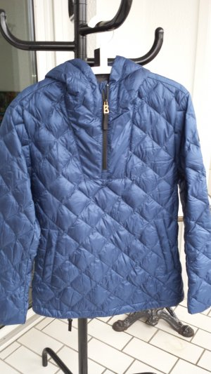 Bogner Schneehemd Hoodie marineblau aus Daunen, Gr. L (Herren Gr. 48) NEU