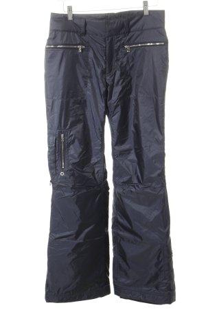 Bogner Pantalon de ski bleu foncé-argenté style masculin