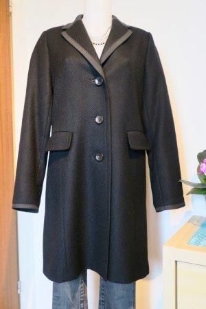 Bogner Abrigo de invierno negro-color plata lana de esquila