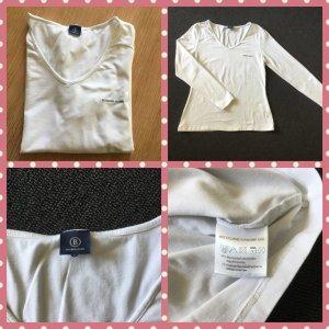 Bogner Camisa con cuello V blanco Algodón
