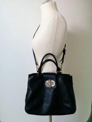 Bogner Shopper black-silver-colored leather