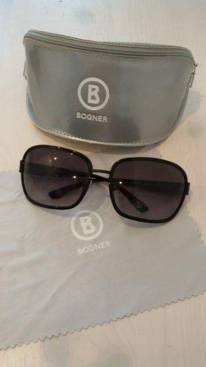 Bogner Ovale zonnebril zwart-zilver