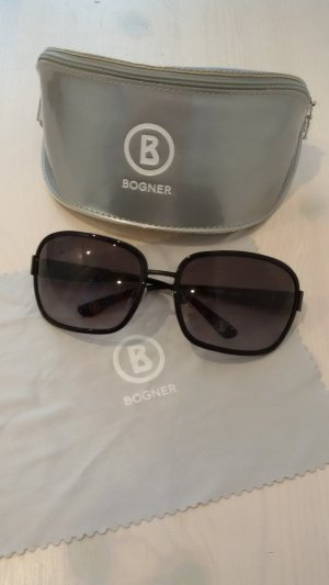 Bogner Oval Sunglasses black-silver-colored