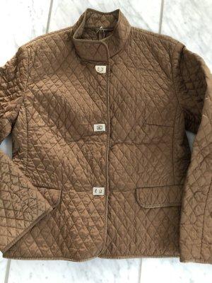 Bogner Chaqueta acolchada color bronce tejido mezclado
