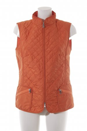 Bogner Quilted Gilet orange quilting pattern casual look