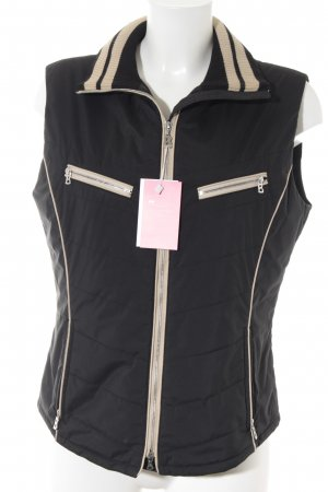 Bogner Chaleco acolchado negro-crema estilo deportivo