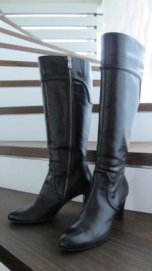 Bogner Stiefel Leder schwarz Größe 39 / Super Zustand WIE NEU !!