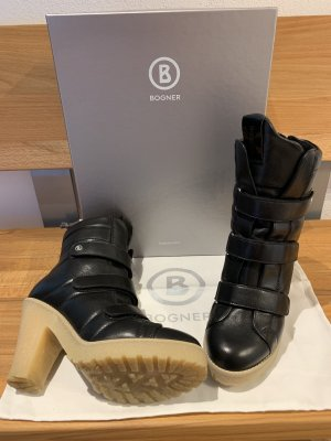 Bogner Platform Booties black