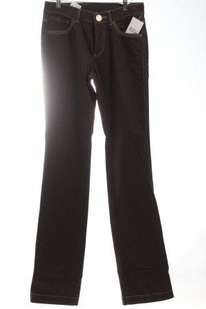 Bogner Straight-Leg Jeans braun Stickereiverzierung