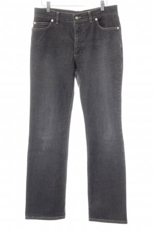 Bogner Straight Leg Jeans dark grey jeans look