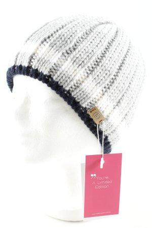 Bogner Chapeau en tricot motif rayé style décontracté