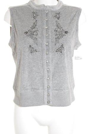 Bogner Knitted Vest light grey fluffy