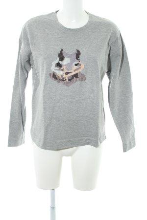 Bogner Sweatshirt hellgrau Motivdruck Casual-Look