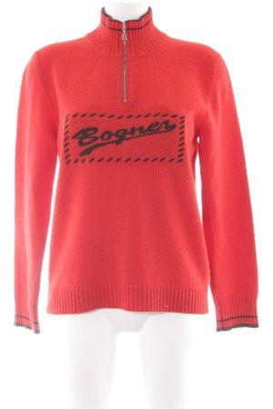 Bogner Sweatshirt rot-dunkelbraun Casual-Look