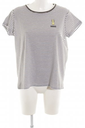Bogner T-Shirt weiß-schwarz Motivdruck Casual-Look