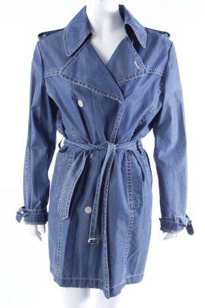 Bogner Trenchcoat blau Jeansoptik