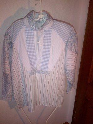 Bogner Tunika Vintage weiß blau super Material