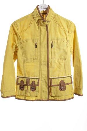 Bogner Übergangsjacke gelb-hellbraun sportlicher Stil