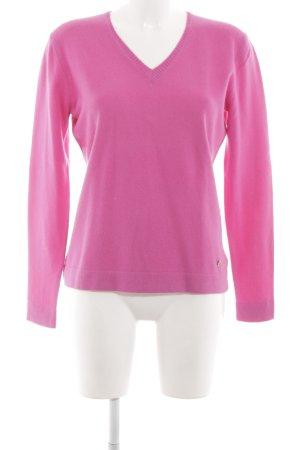 Bogner V-Ausschnitt-Pullover pink klassischer Stil
