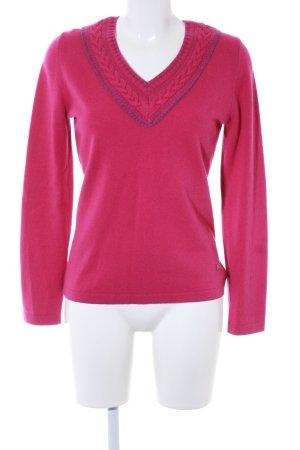 Bogner V-Ausschnitt-Pullover pink Street-Fashion-Look