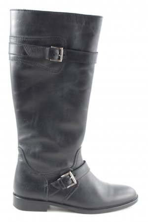 Bogner Wide Calf Boots black casual look