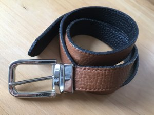 Bogner Reversible Belt black-cognac-coloured