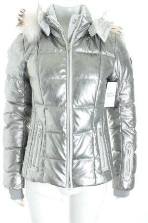 Bogner Winterjacke silberfarben Street-Fashion-Look