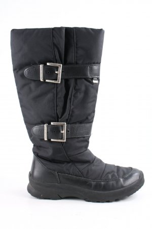 Bogner Winter Boots black quilting pattern casual look