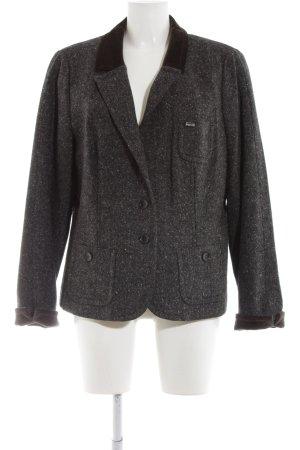 Bogner Woll-Blazer silberfarben-schwarz Allover-Druck Business-Look