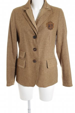 Bogner Wool Blazer camel-light brown zigzag pattern college style