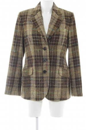 Bogner Wool Blazer sand brown-grey brown glen check pattern business style